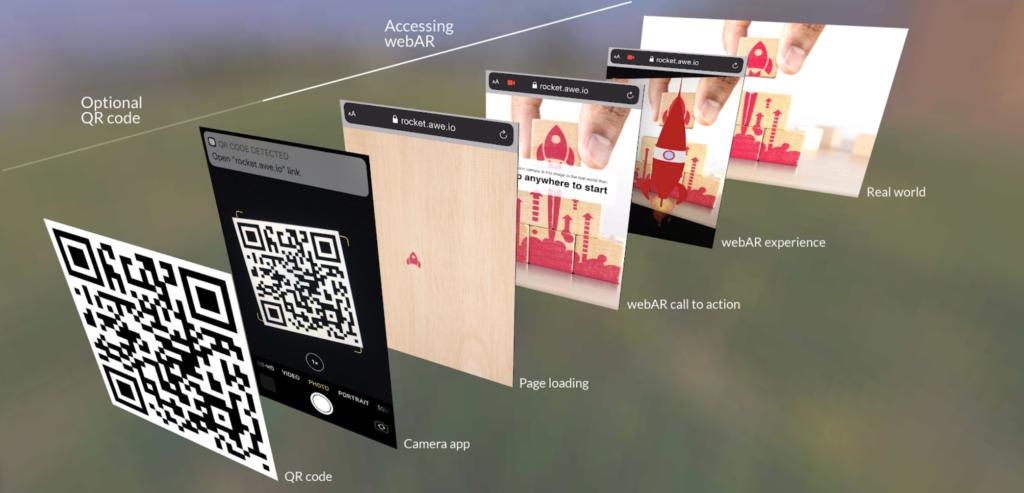 QR reader for Web AR