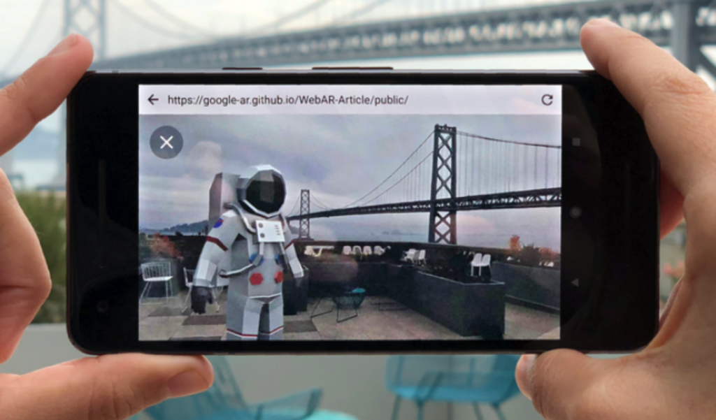 Web AR example on phone